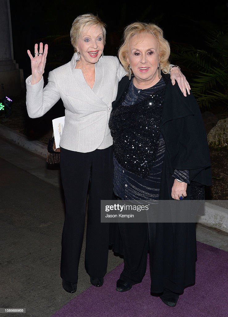 Florence Henderson and Doris Roberts attend the Hallmark Channel and Hallmark Movie Channel's '2013 Winter TCA' Press Gala at The Huntington Library and Gardens on January 4, 2013 in San Marino, California.