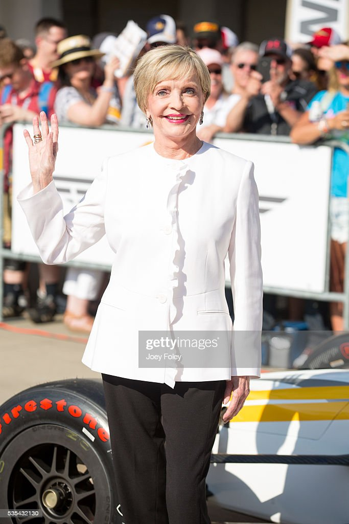 <a gi-track='captionPersonalityLinkClicked' href=/galleries/search?phrase=Florence+Henderson&family=editorial&specificpeople=171392 ng-click='$event.stopPropagation()'>Florence Henderson</a> attends the 100th running of the Indianapolis 500 at Indianapolis Motorspeedway on May 29, 2016 in Indianapolis, Indiana. on May 29, 2016