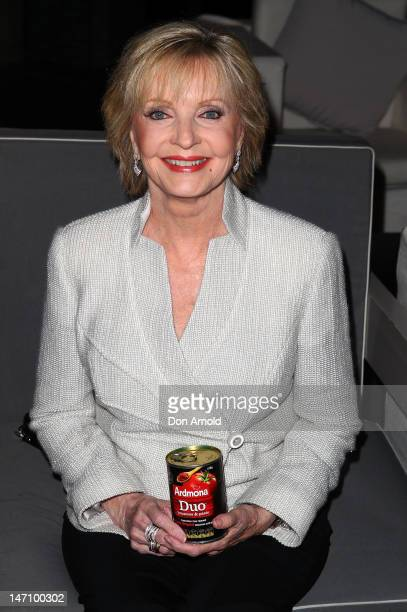 Florence Henderson best known for playing the role of 'Mrs Brady' on the sitcom 'The Brady Bunch' poses during a promotional visit to Australia at...