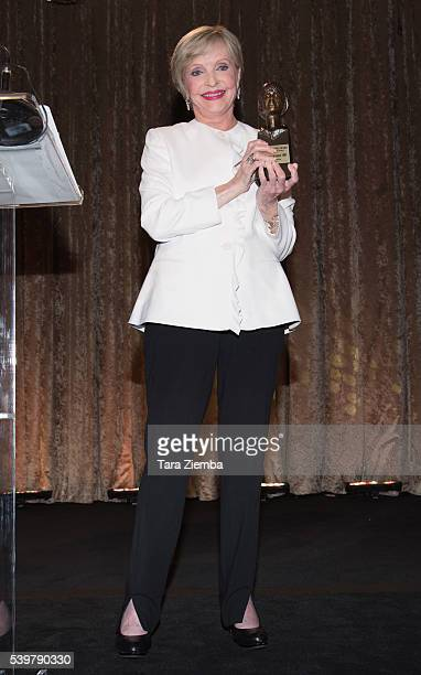Florence Henderson is presented with the Julie Harris Award for Artistic Achievement at the Actors Fund 's 20th Anniversrary Tony Awards viewing...