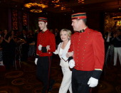 Florence Henderson receives Neveda Ballets Woman Of The Year award at Aria on January 25 2014 in Las Vegas Nevada