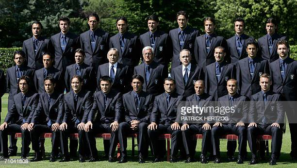 The Italian team poses for the official picture at the National Technical Center of Coverciano in Florence 25 May 2006 Italy prepares for the...