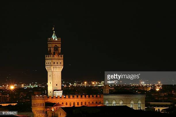 Paesaggio di notte scena-Firenze, Toscana, Italia