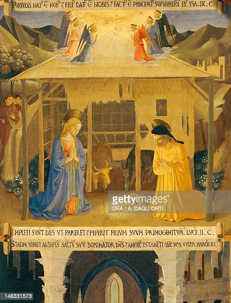 Florence Museo Di San Marco Inset depicting the Nativity panel from the Armadio degli Argenti with the life of Jesus 14511453 by Giovanni da Fiesole...