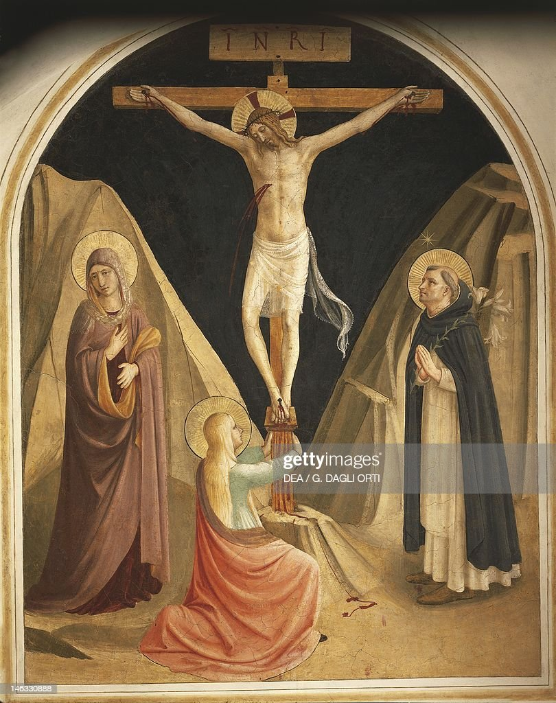 mary magdalene at the feet of crucified christ pictures getty images