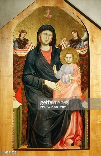 Florence Museo Diocesano Di Santo Stefano Al Ponte Madonna and Child with angels or the Madonna of San Giorgio of the Coast 12951300 by Giotto...