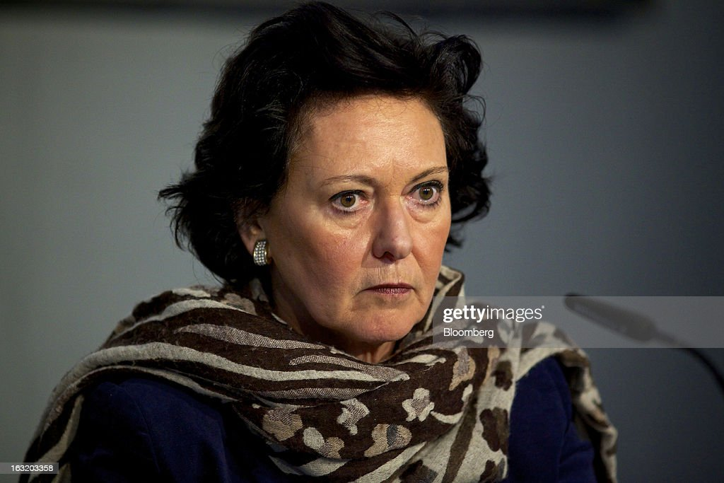 Florence Ollivier-Lamarque, member of the management board at Swatch Group AG, pauses during the company's annual results news conference in Grenchen, Switzerland, on Wednesday, March 6, 2013. Swatch Group AG, the biggest maker of Swiss timepieces, fell as much as 3.1 percent in Zurich trading after Chief Executive Officer Nick Hayek sought to downplay expectations over industry growth prospects. Photographer: Gianluca Colla/Bloomberg via Getty Images