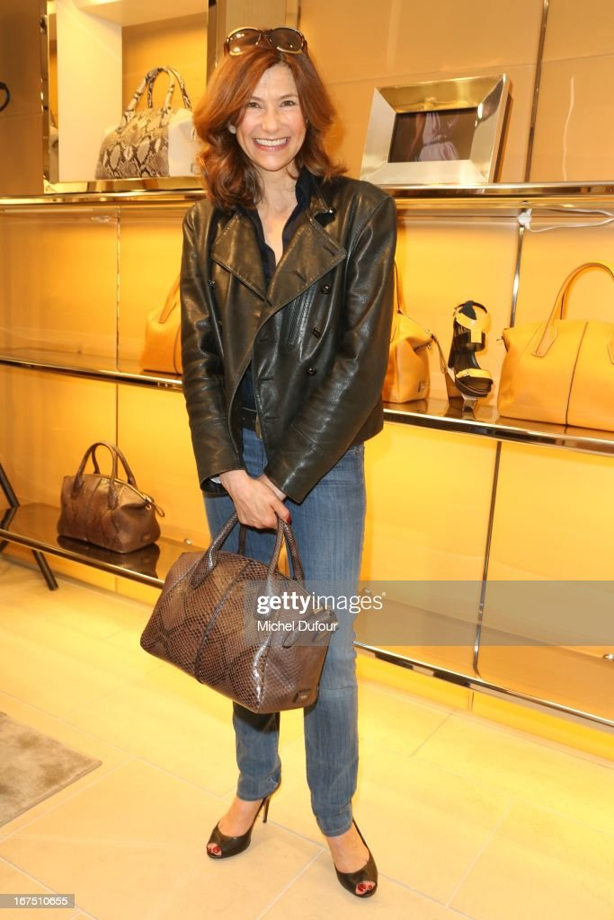<a gi-track='captionPersonalityLinkClicked' href=/galleries/search?phrase=Florence+Pernel&family=editorial&specificpeople=2322023 ng-click='$event.stopPropagation()'>Florence Pernel</a> attends the 'D.D. Bag Collection' Launch Cocktail at Tods Shop on April 25, 2013 in Paris, France.