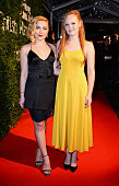 Florence Pugh and Anna Burnett arrive at the London Evening Standard British Film Awards at Television Centre on February 7 2016 in London England