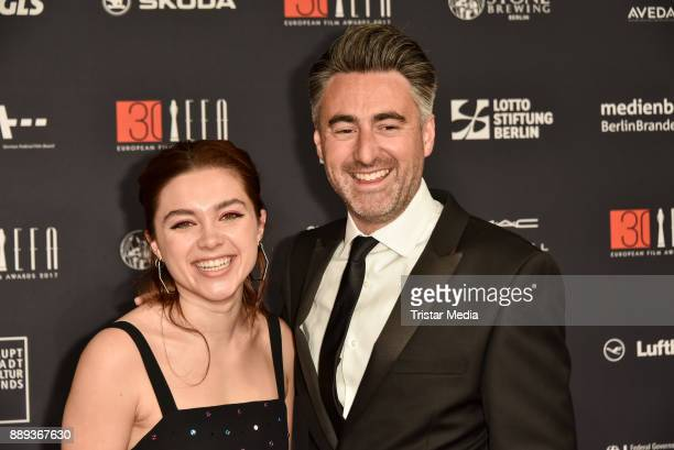 Florence Pugh and Director William Oldroyd attend the European Film Awards 2017 on December 9 2017 in Berlin Germany