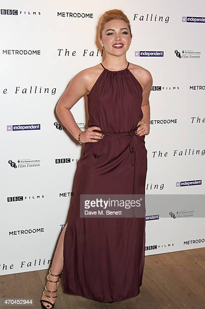 Florence Pugh attends the London gala screening of 'The Falling' at Ham Yard Hotel on April 20 2015 in London England