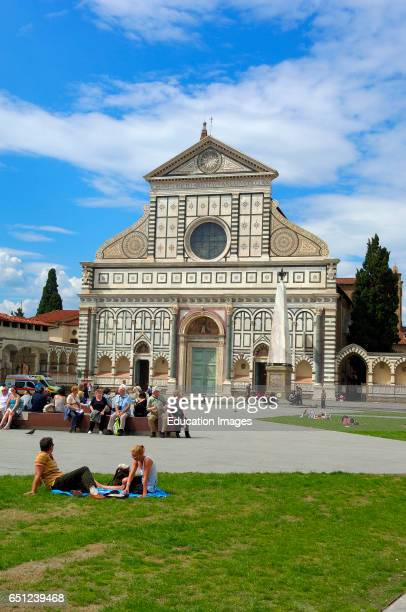 Florence Santa Maria Novella Church Santa Maria Novella square Piazza Santa Maria Novella Tuscany Italy Europe