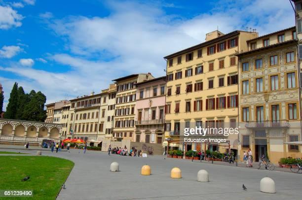 Florence Santa Maria Novella square Piazza Santa Maria Novella Tuscany Italy Europe