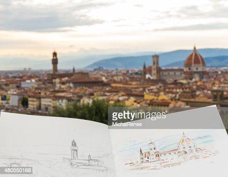 Florence Sketchbook : Stock Photo