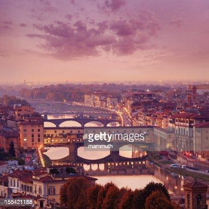 Florence skyline at dusk