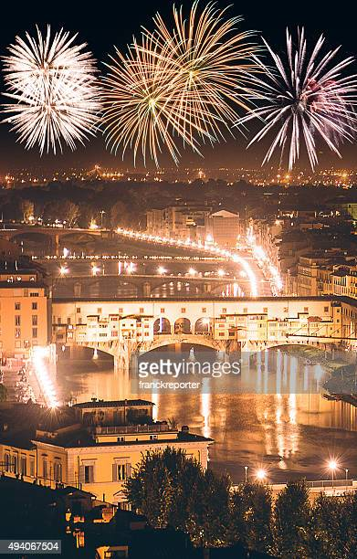 Florence skyline during the new year celebration