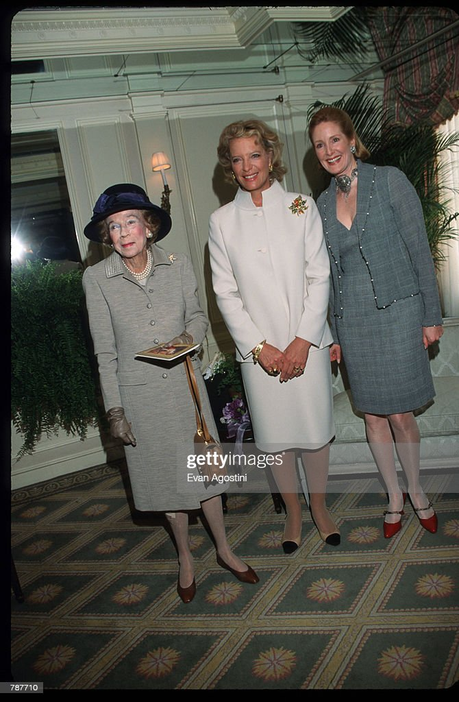 Florence Van Der Kemp, Princess Michael and Barbar De Portago pose for a picture April 21, 1999 at the Versailles Foundation Gala in New York City.