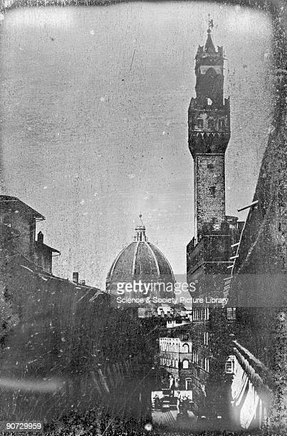 Florence View from the South Corridor in the Picture Gallery in the Uffizi' 30 June 1841 Daguerreotype by Alexander John Ellis One of a series of...