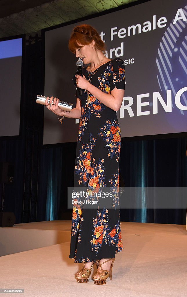 <a gi-track='captionPersonalityLinkClicked' href=/galleries/search?phrase=Florence+Welch&family=editorial&specificpeople=5431574 ng-click='$event.stopPropagation()'>Florence Welch</a> accepts the Best Female Artist Award during the Nordoff Robbins O2 Silver Clef Awards on July 1, 2016 in London, United Kingdom.
