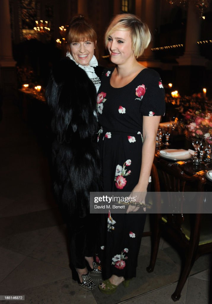<a gi-track='captionPersonalityLinkClicked' href=/galleries/search?phrase=Florence+Welch&family=editorial&specificpeople=5431574 ng-click='$event.stopPropagation()'>Florence Welch</a> and Grace Welch attend the Alexander McQueen and Frieze Dinner to celebrate the Frieze Art Fair 2013 on October 17, 2013 in London, England.