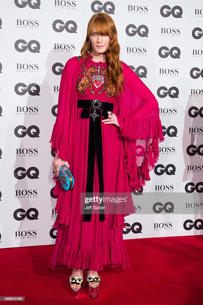Florence Welch arrives for GQ Men Of The Year Awards 2016 at Tate Modern on September 6, 2016 in London, England.