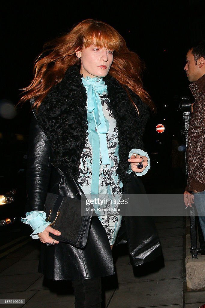 <a gi-track='captionPersonalityLinkClicked' href=/galleries/search?phrase=Florence+Welch&family=editorial&specificpeople=5431574 ng-click='$event.stopPropagation()'>Florence Welch</a> attending Alexa Chung's 30th birthday party at the London Edition Hotel on November 9, 2013 in London, England.