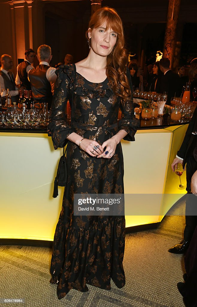 Florence Welch attends as PORTER hosts a special performance of Letters Live in celebration of their Incredible Women of 2016 at The V&A on November 29, 2016 in London, England.