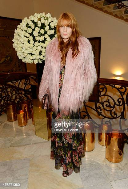 Florence Welch attends private reception hosted by Gucci Frieze Masters in honour of the speakers at Frieze Masters Talks 2014 at Italian Embassy on...