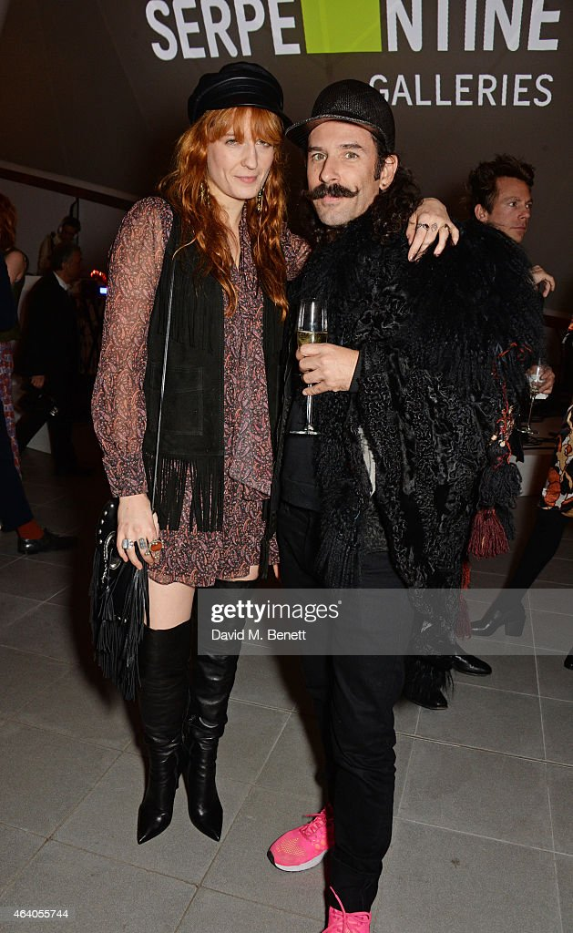Florence Welch (L) attends the Coach X Serpentine The Future Contemporaries Party at The Serpentine Sackler Gallery on February 21, 2015 in London, England.