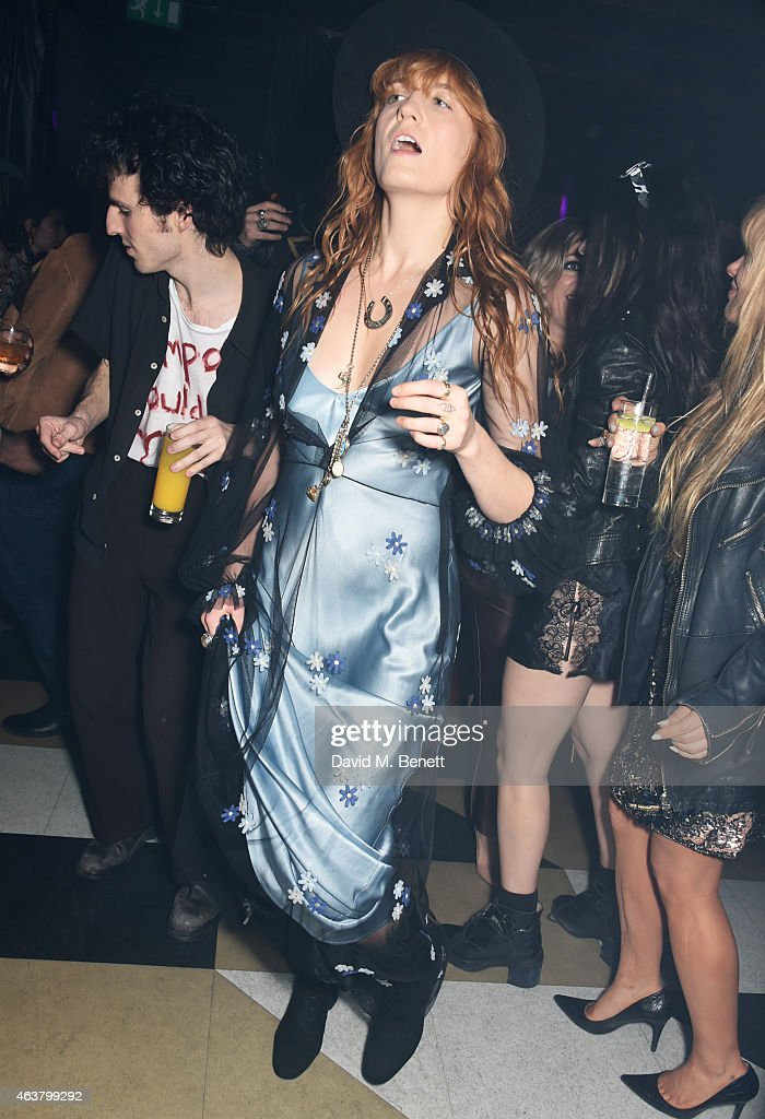 Florence Welch attends the NME Awards after party at Cuckoo Club on February 18 2015 in London England