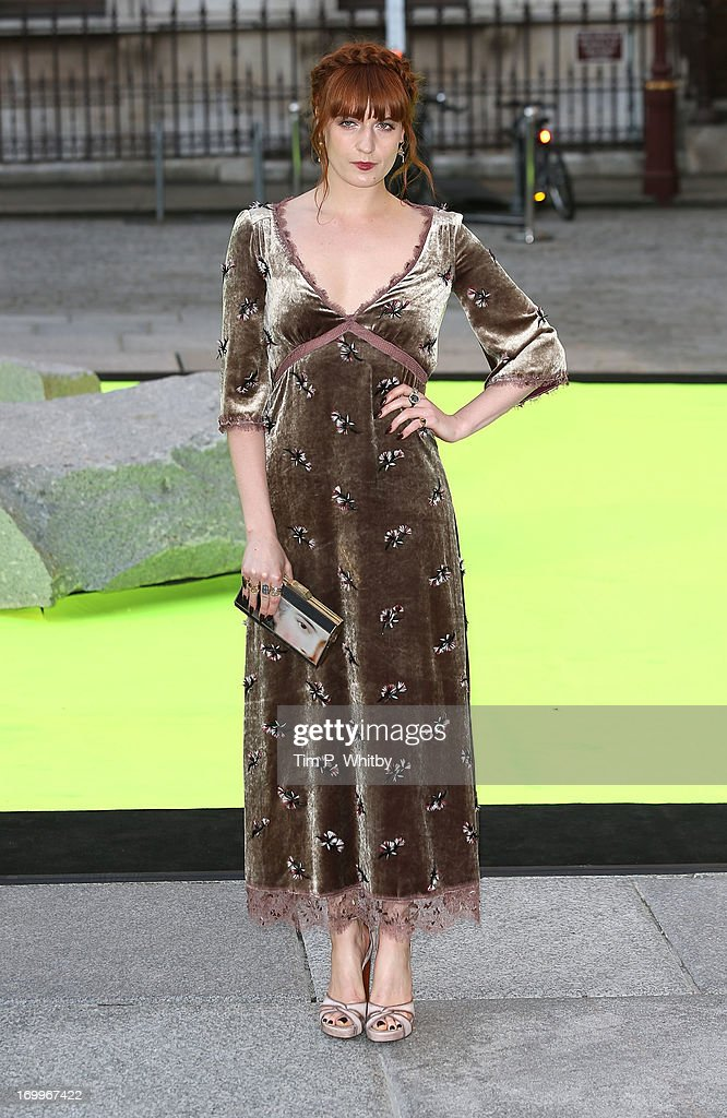 Florence Welch attends the preview party for The Royal Academy Of Arts Summer Exhibition 2013 at Royal Academy of Arts on June 5, 2013 in London, England.
