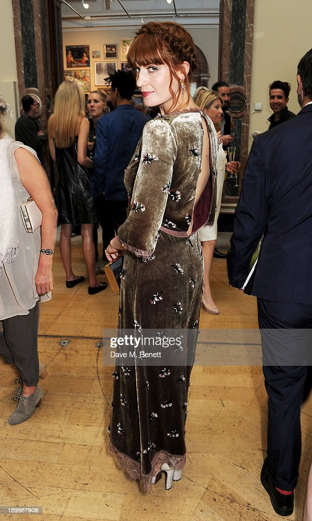 <a gi-track='captionPersonalityLinkClicked' href=/galleries/search?phrase=Florence+Welch&family=editorial&specificpeople=5431574 ng-click='$event.stopPropagation()'>Florence Welch</a> attends the preview party for The Royal Academy Of Arts Summer Exhibition 2013 at Royal Academy of Arts on June 5, 2013 in London, England.