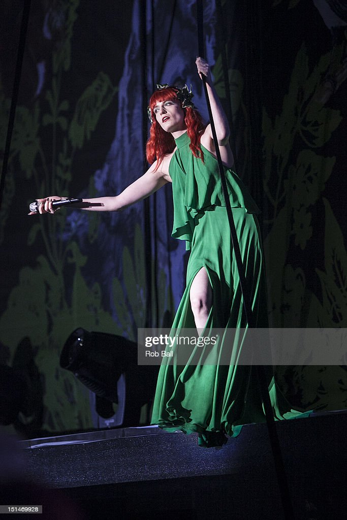 Florence Welch from Florence and the Machine performs at Bestival 2012 at Robin Hill Country Park on September 7, 2012 in Newport, Isle of Wight.