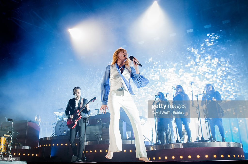 Florence Welch from Florence and the Machine performs at Zenith de Paris on December 22 2015 in Paris France