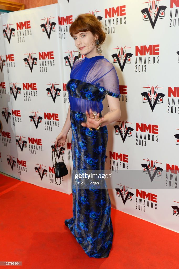 <a gi-track='captionPersonalityLinkClicked' href=/galleries/search?phrase=Florence+Welch&family=editorial&specificpeople=5431574 ng-click='$event.stopPropagation()'>Florence Welch</a> of Florence and the Machine attends the NME Awards 2013 at The Troxy on February 27, 2013 in London, England.