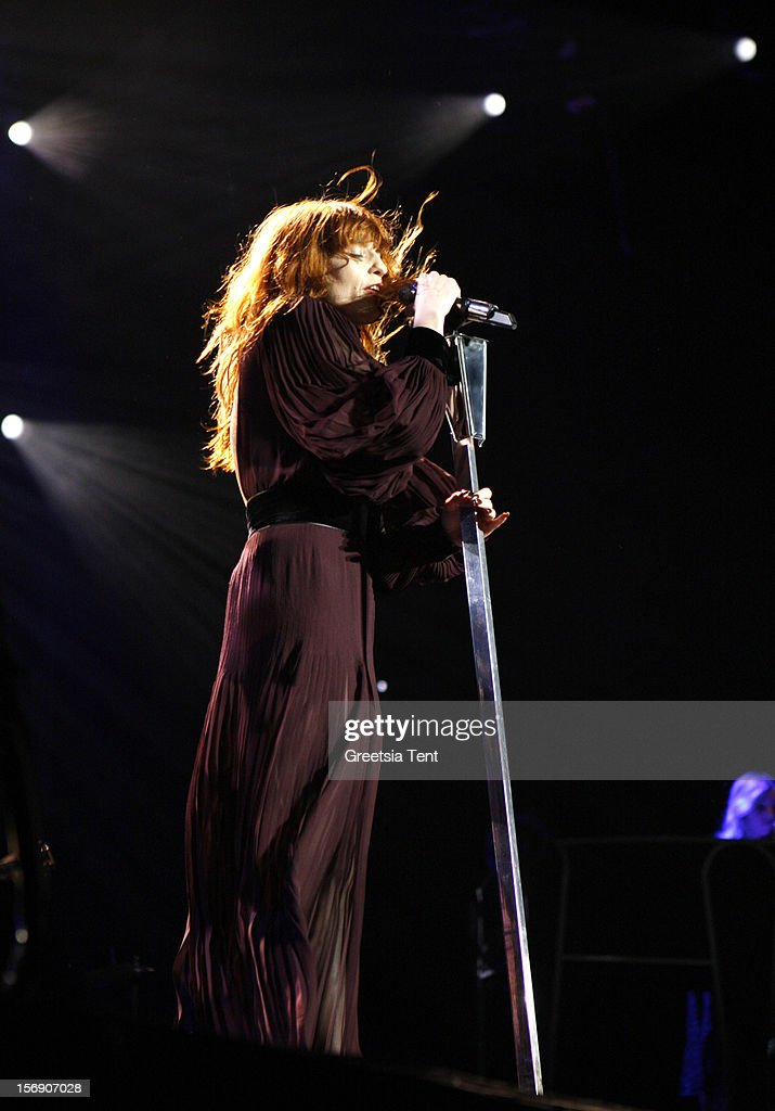 <a gi-track='captionPersonalityLinkClicked' href=/galleries/search?phrase=Florence+Welch&family=editorial&specificpeople=5431574 ng-click='$event.stopPropagation()'>Florence Welch</a> of Florence and the Machine performs at the Heineken Music Hall on November 24, 2012 in Amsterdam, Netherlands.