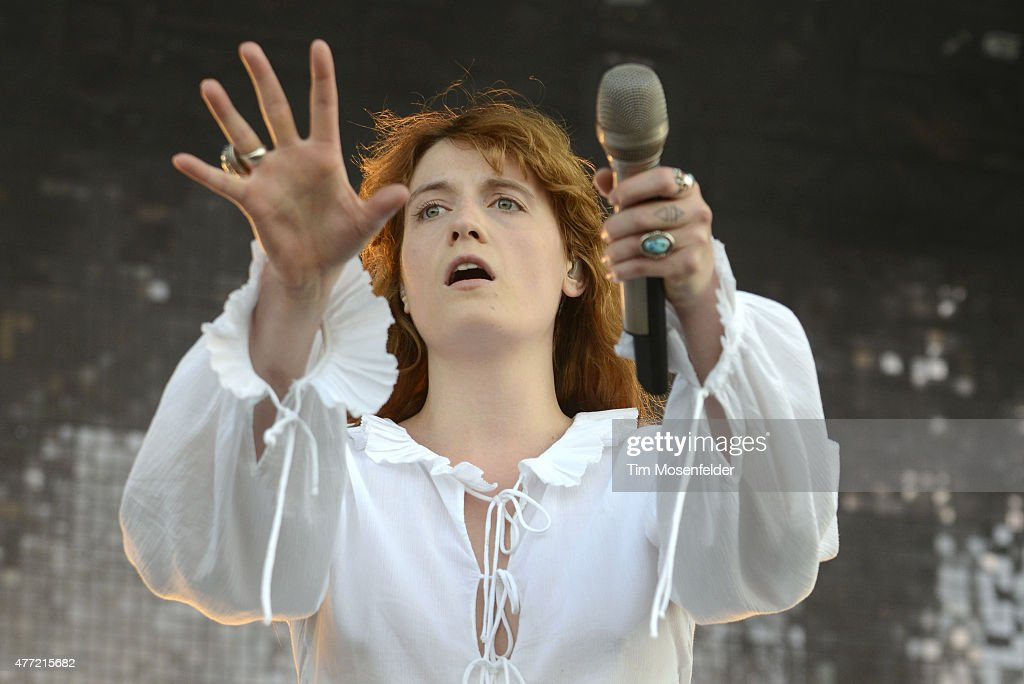 Florence Welch of Florence and the Machine performs during the 2015 Bonnaroo Music & Arts Festival on June 14, 2015 in Manchester, Tennessee.
