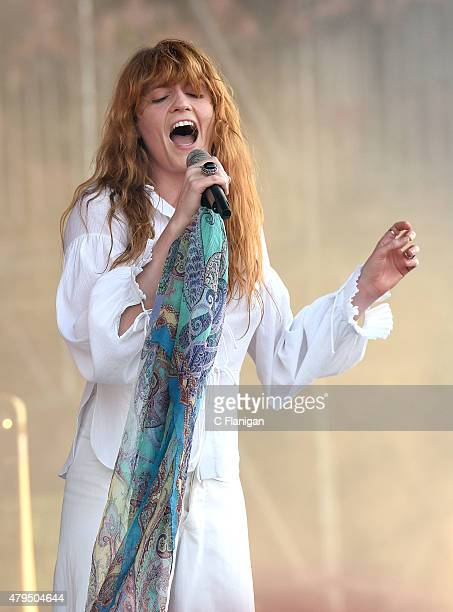 Florence Welch of Florence and The Machine performs during the 2015 Bonnaroo Music Arts Festival on June 14 2015 in Manchester Tennessee
