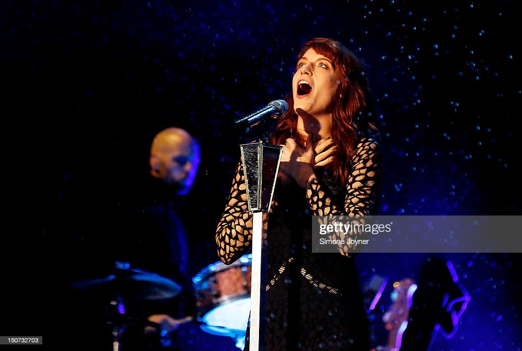Florence Welch of Florence and the Machine performs live on the Main Stage on Day Two during the Reading Festival 2012 at Richfield Avenue on August 25, 2012 in Reading, England.
