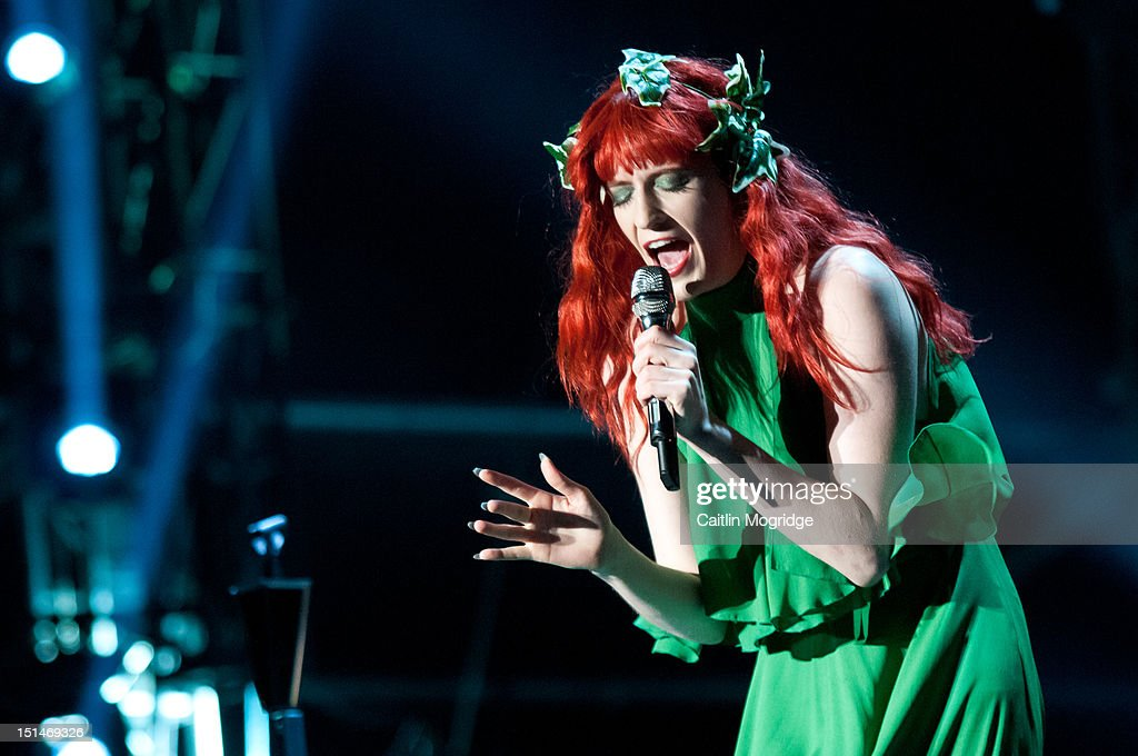Florence Welch of Florence and the Machine performs on stage at Bestival at Robin Hill Country Park on September 7, 2012 in Newport, United Kingdom.