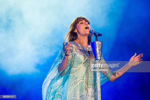 Florence Welch of Florence and the Machine performs on stage during a concert in the Rock in Rio Festival on September 14 2013 in Rio de Janeiro...