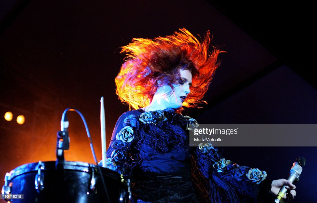 Florence Welch of Florence and the Machine performs on stage during the Adelaide leg of Laneway Festival at Fowler's Live on February 5 2010 in...