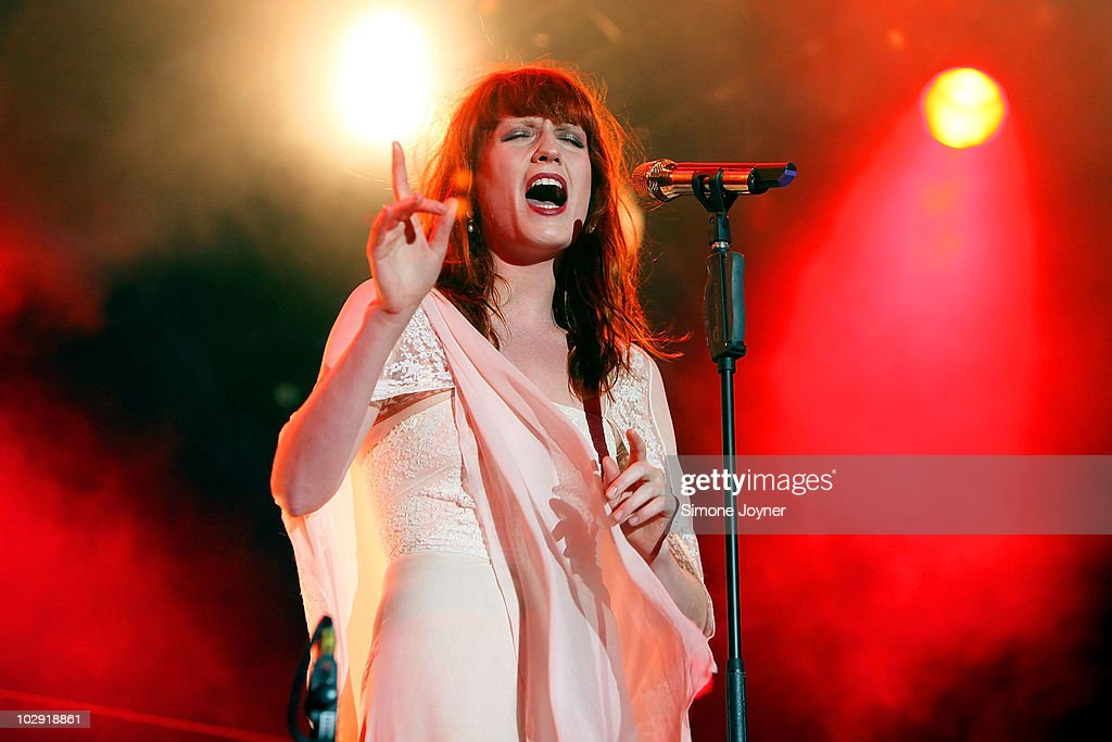 Florence Welch of Florence and The Machine performs on the eighth night of the Summer Series at Somerset House on July 15, 2010 in London, England.