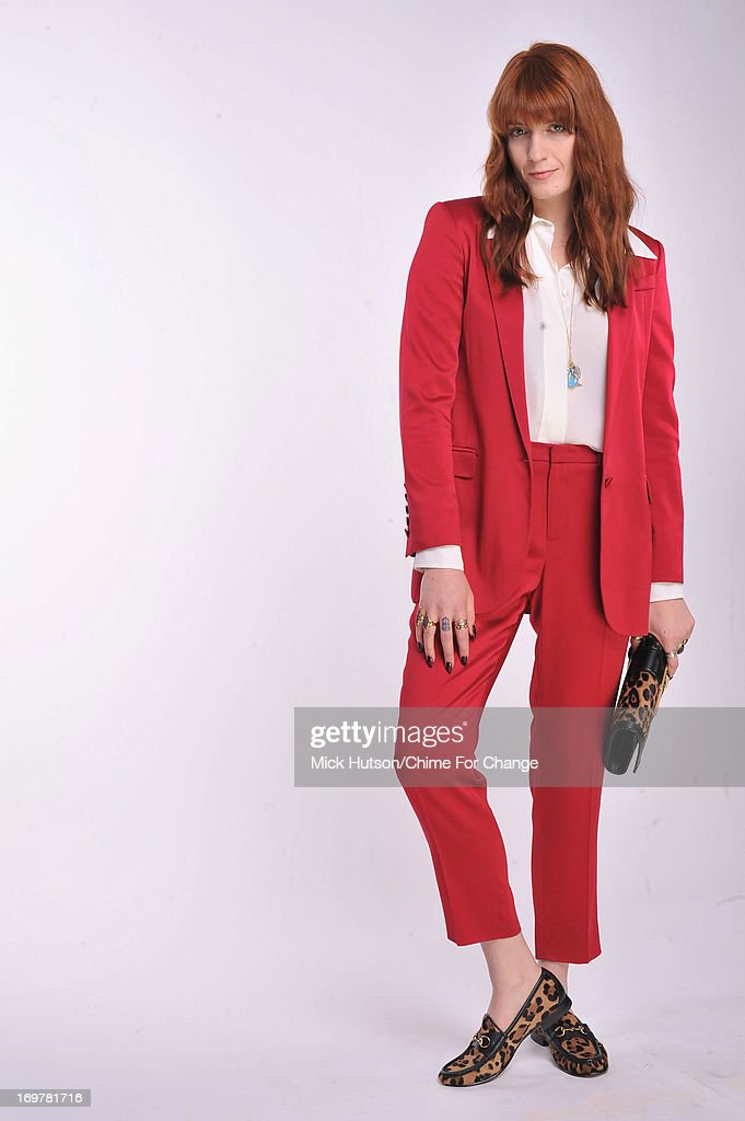 <a gi-track='captionPersonalityLinkClicked' href=/galleries/search?phrase=Florence+Welch&family=editorial&specificpeople=5431574 ng-click='$event.stopPropagation()'>Florence Welch</a> of Florence And The Machine poses for a portrait backstage at the 'Chime For Change: The Sound Of Change Live' Concert at Twickenham Stadium on June 1, 2013 in London, England. Chime For Change is a global campaign for girls' and women's empowerment founded by Gucci with a founding committee comprised of Gucci Creative Director Frida Giannini, Salma Hayek Pinault and Beyonce Knowles-Carter.