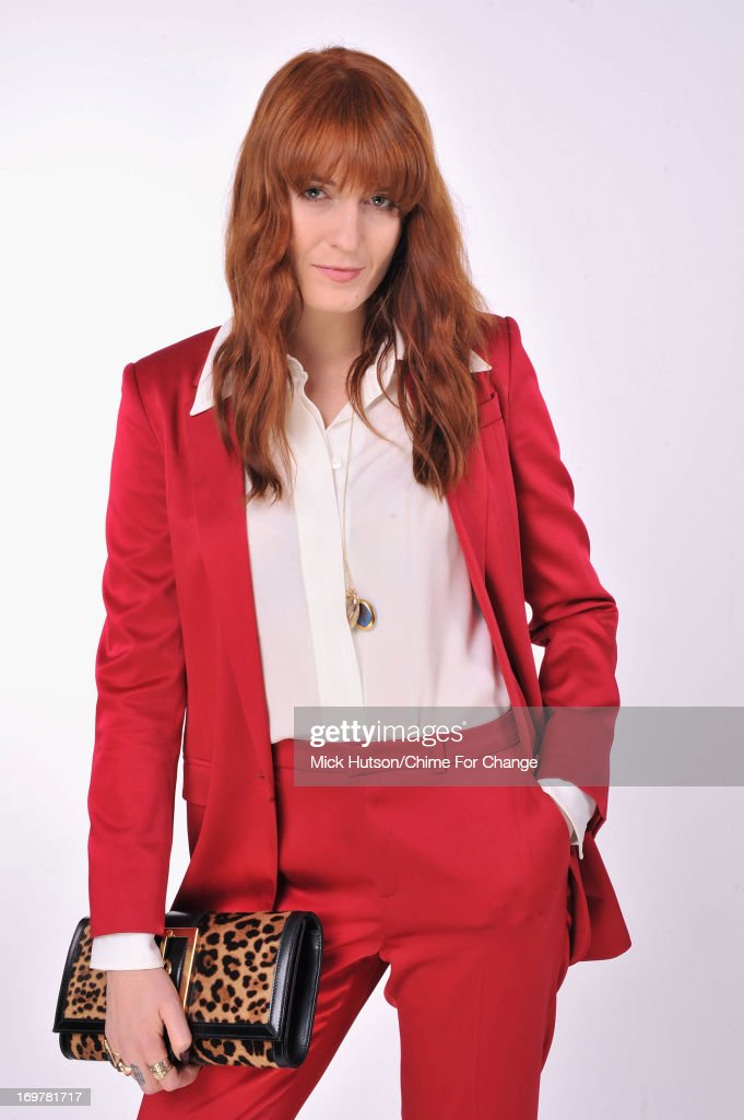 Florence Welch of Florence And The Machine poses for a portrait backstage at the 'Chime For Change: The Sound Of Change Live' Concert at Twickenham Stadium on June 1, 2013 in London, England. Chime For Change is a global campaign for girls' and women's empowerment founded by Gucci with a founding committee comprised of Gucci Creative Director Frida Giannini, Salma Hayek Pinault and Beyonce Knowles-Carter.