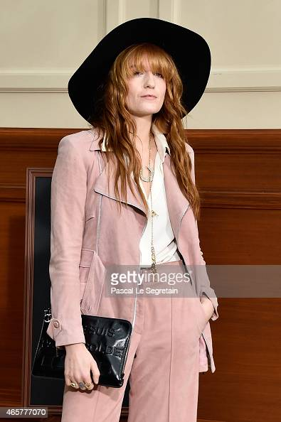 Florence Welch of Florence the Machine attends the Chanel show as part of the Paris Fashion Week Womenswear Fall/Winter 2015/2016 on March 10 2015 in...