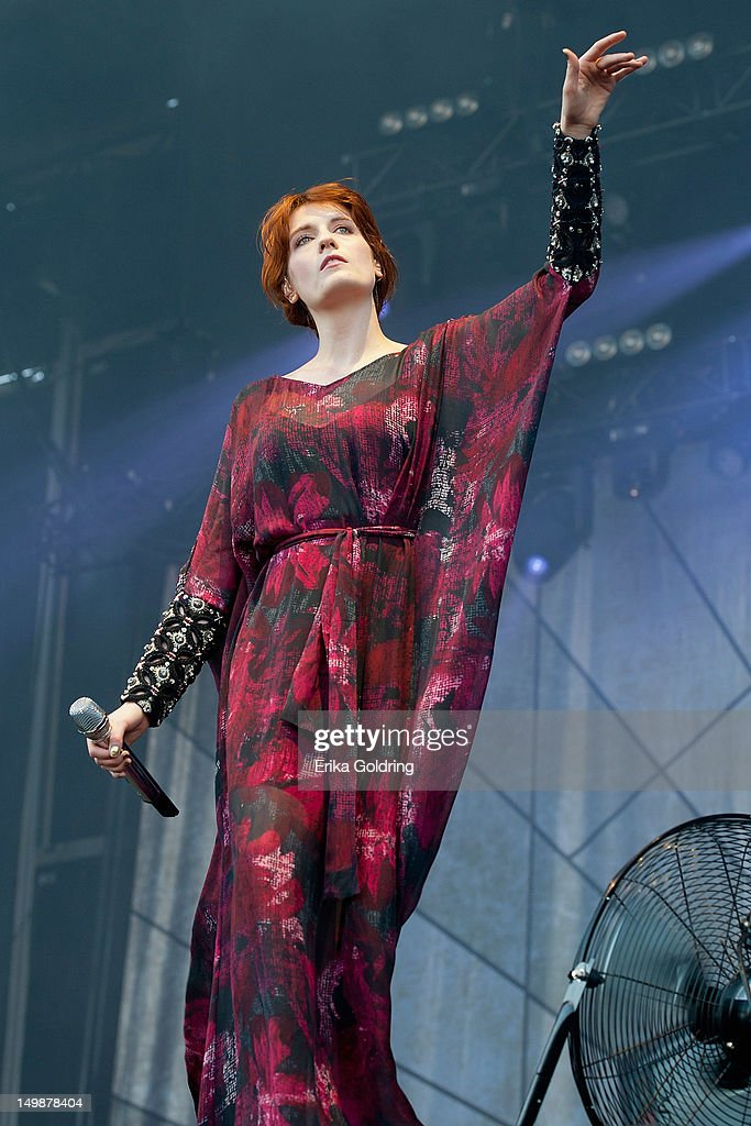 Florence Welch of Florence + The Machine performs on the Bud Light Stage during 2012 Lollapalooza at Grant Park on August 5, 2012 in Chicago, Illinois.