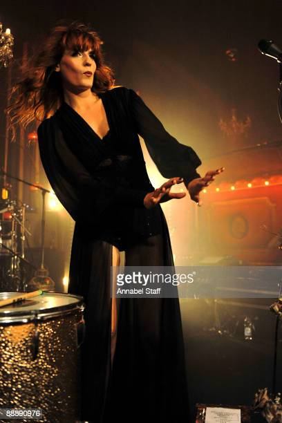 Florence Welch perform on stage at the launch party for the new album 'Lungs' at The Rivoli Ballroom on July 7 2009 in London England