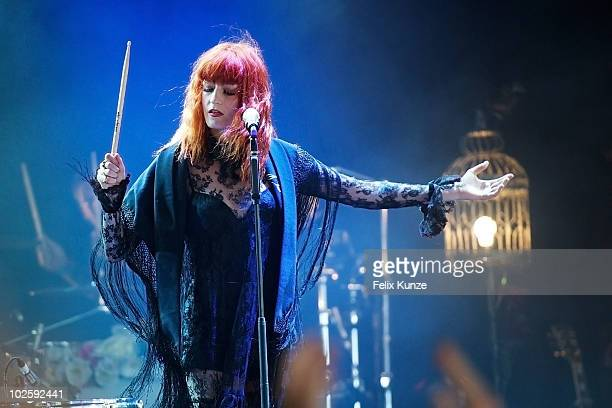 Florence Welsh of Florence and the Machine performs on day 2 at the Roskilde Festival on July 2 2010 in Roskilde Denmark