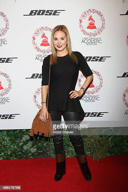 Florencia de Saracho attends the Latin Grammy Acustic Sessions at Estacion Indianillas on November 9 2015 in Mexico City Mexico